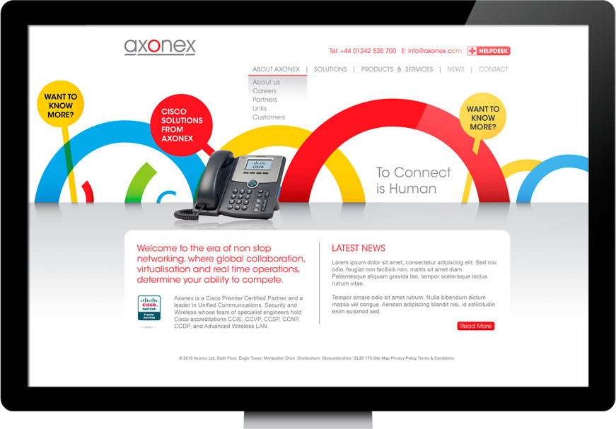 Axonex Homepage Design