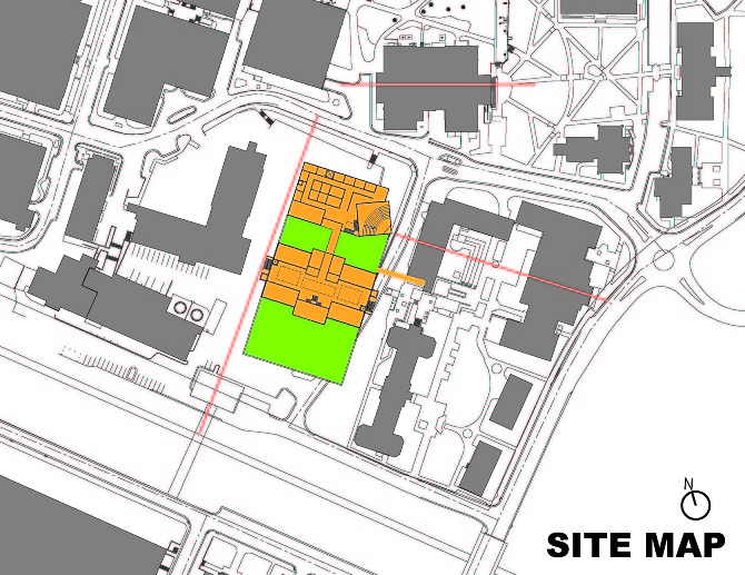 Ncsu studio addition summerell design the site diagram shows the relation of the building to the already existing buildings on campus ccuart Images